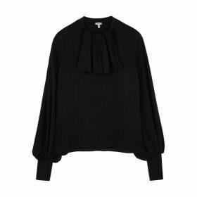 Loewe Black Silk-chiffon Blouse