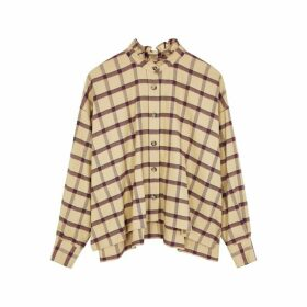 Isabel Marant Étoile Ilaria Camel Checked Brushed Cotton Shirt
