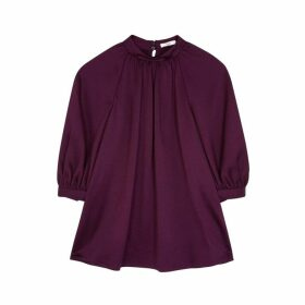 Erdem Novara Plum Satin Top