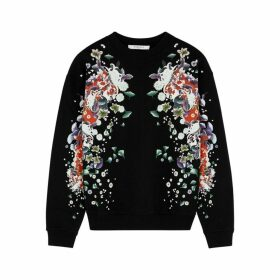 Givenchy Black Printed Cotton Sweatshirt