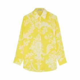 Acne Studios Yellow Printed Silk Shirt
