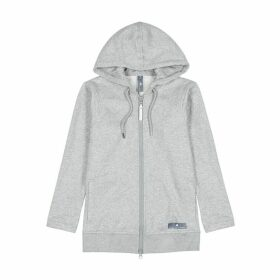 Adidas X Stella McCartney Grey Hooded Cotton-blend Sweatshirt