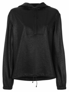 Saint Laurent high shine half zip hoody - Black
