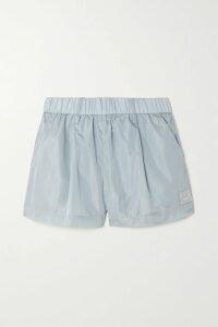 ALEXACHUNG - Tiered Ruffled Satin Midi Skirt - Cream