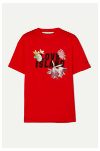 Golden Goose - Golden Printed Cotton-jersey T-shirt - Red