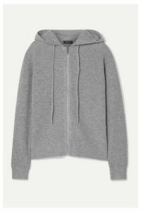 Theory - Ribbed Cashmere Hoodie - Gray