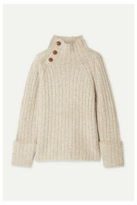 rag & bone - Klark Ribbed Wool-blend Turtleneck Sweater - Neutral