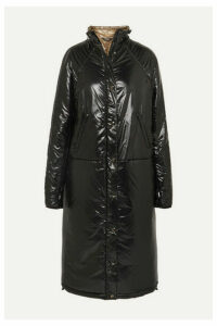 Kassl Editions - Quilted Pu Coat - Black