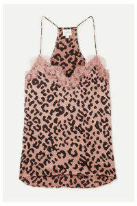 Cami NYC - The Racer Lace-trimmed Leopard-print Silk-charmeuse Camisole - Blush