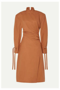 Acne Studios - Deera Ruched Cotton-poplin Dress - Orange