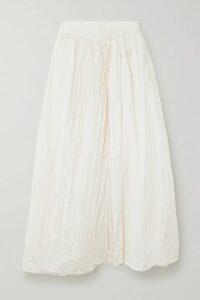 STAUD - Natasha Stretch-cotton Poplin Halterneck Maxi Dress - Merlot