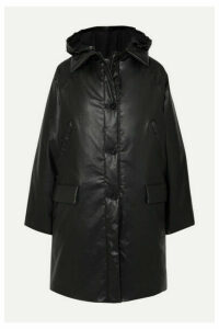 Kassl Editions - Hooded Padded Coated Cotton-blend Coat - Black