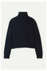Theory - Ribbed Cashmere Turtleneck Sweater - Navy