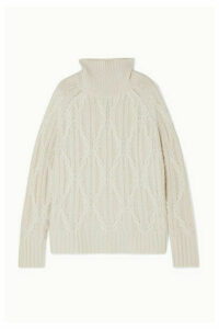 Nili Lotan - Merya Cable-knit Cashmere Turtleneck Sweater - Cream