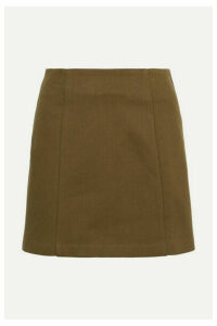 MATIN - Cotton-jersey Mini Skirt - Army green