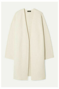 Theory - Whipstitched Wool And Cashmere-blend Cardigan - Ecru
