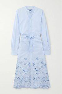Anna Mason - Mademoiselle Tiered Glittered Polka-dot Tulle Maxi Skirt - Pink
