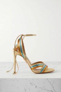 Anna Mason - Stella Leopard-jacquard Wrap Blouse - Mustard