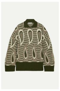 JW Anderson - Intarsia Wool Sweater - Green