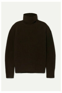 Nili Lotan - Mariah Brushed Cashmere-blend Turtleneck Sweater - Brown