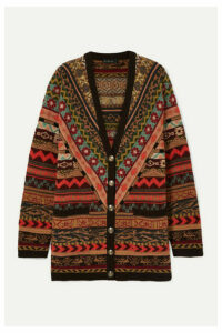 Etro - Oversized Fair Isle Wool Cardigan - Orange