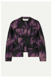 Marques' Almeida - Frayed Printed Brocade Jacket - Purple