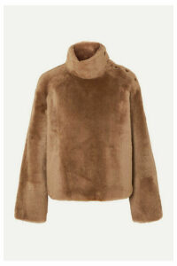 Yves Salomon - Shearling Turtleneck Sweater - Camel