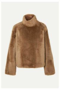 Yves Salomon - Shearling Turtleneck Sweater - Camel