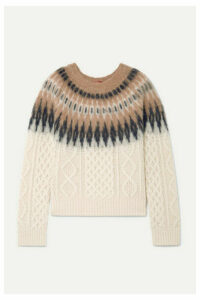 Altuzarra - Parvati Fair Isle And Cable-knit Wool-blend Sweater - Ivory