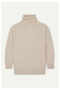 Max Mara - Leisure Wool Turtleneck Sweater - Beige