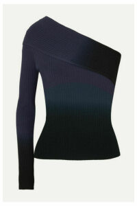 Altuzarra - Padma One-sleeve Dégradé Ribbed-knit Top - Blue