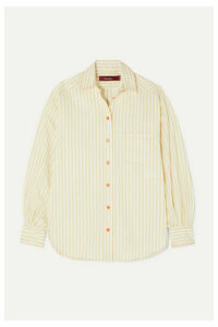 Sies Marjan - Emanuela Striped Cotton-blend Shirt - Ivory