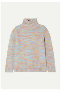 Sies Marjan - Yuki Mélange Merino Wool And Silk-blend Turtleneck Sweater - Pink