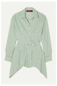 Sies Marjan - Ainsley Pintucked Striped Cotton-blend Poplin Shirt - Light green