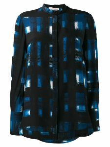Alexander McQueen long-sleeve printed shirt - Blue