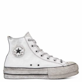 Chuck Taylor All Star Leather Smoke Platform High Top