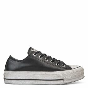 Chuck Taylor All Star Leather Smoke Platform Low Top