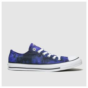 Converse Black And Blue All Star Miss Galaxy Ox Trainers