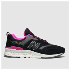 New Balance Black & Pink 997 Trainers