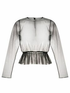 Comme Des Garçons Noir Kei Ninomiya sheer blouse - Black