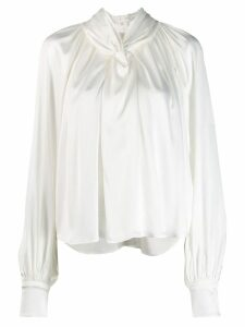 A.W.A.K.E. Mode pleated blouse - White