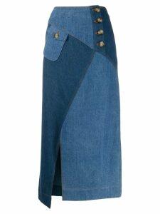 Rejina Pyo panelled denim skirt - Blue