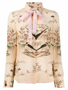 Red Valentino printed Peter Pan collar shirt - PINK