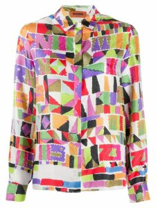 Missoni digital print blouse - White