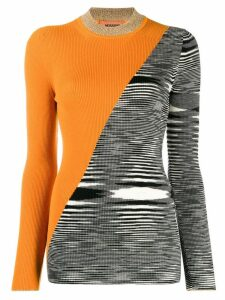 Missoni print mix jumper - ORANGE