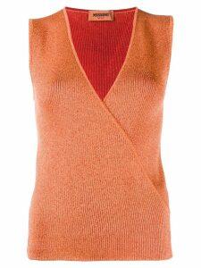 Missoni V-neck wrap top - ORANGE