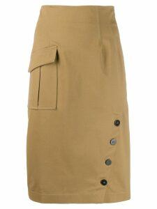 Pinko high waisted panel skirt - NEUTRALS