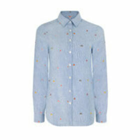 Mushroom Embroidered Shirt