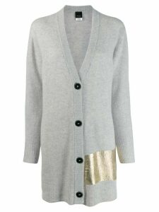 Pinko metallic detail cardigan - Grey