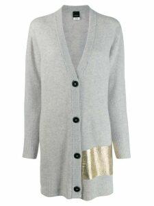 Pinko metallic detail cardigan - Grey